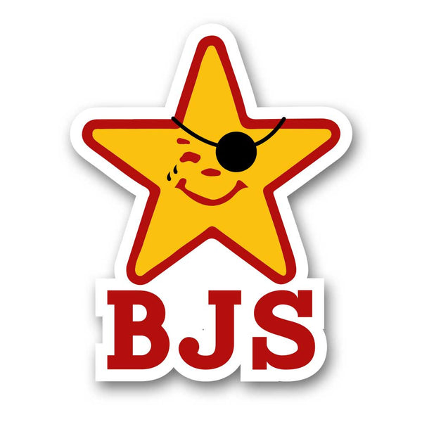 BJS Pirate Star Sticker - BodyJewelrySource