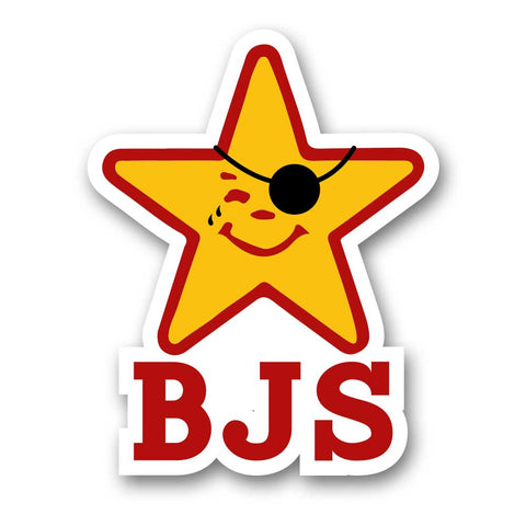BJS Pirate Star Sticker