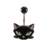 Black Cat Navel Ring - BodyJewelrySource