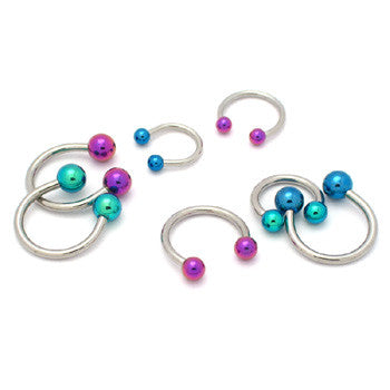 Circular Barbell With Colored Balls