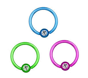 Colorline Captive Rings With Gems