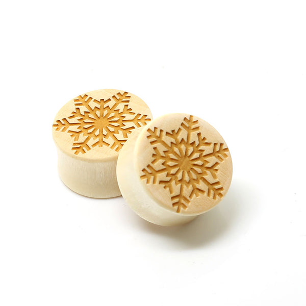 SALE- Organic Snowflake Ear Plugs