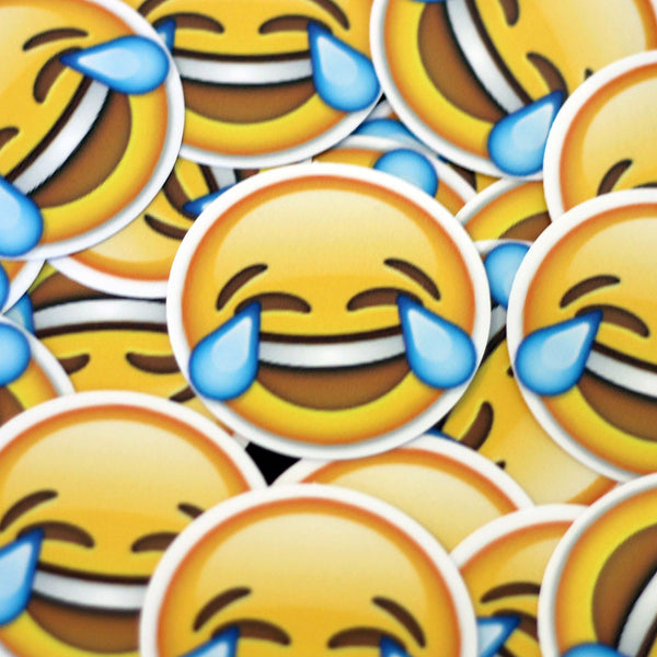 Tearing Happy Face Emoji Sticker