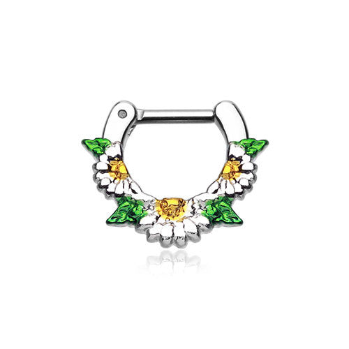 Daisy Garden Septum Clicker Ring