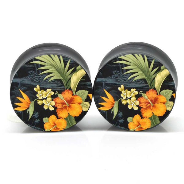 Dark Hawaiian Ear Plugs