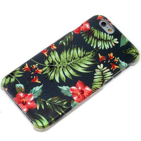 Dark Tropical Hawaiian Pattern