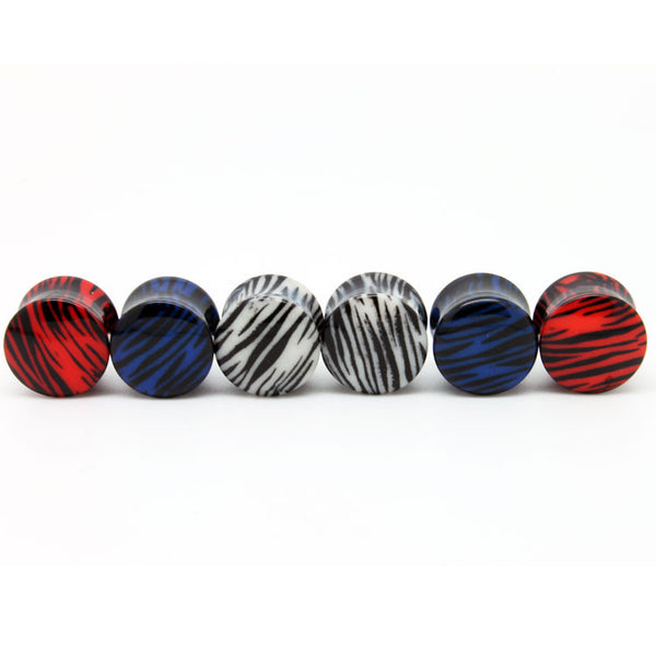Tiger Print Wrapped Ear Gauges