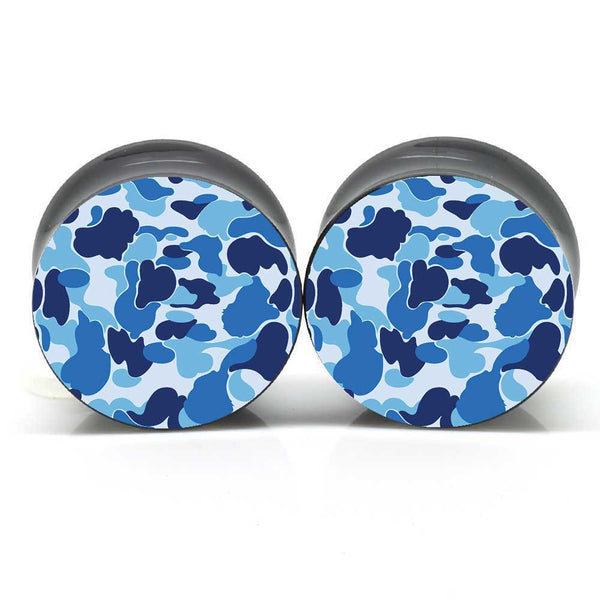 Blue Camo Ear Plugs