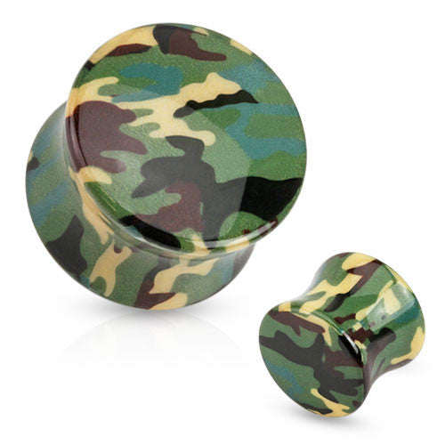 Green Camoflauge Ear Plugs