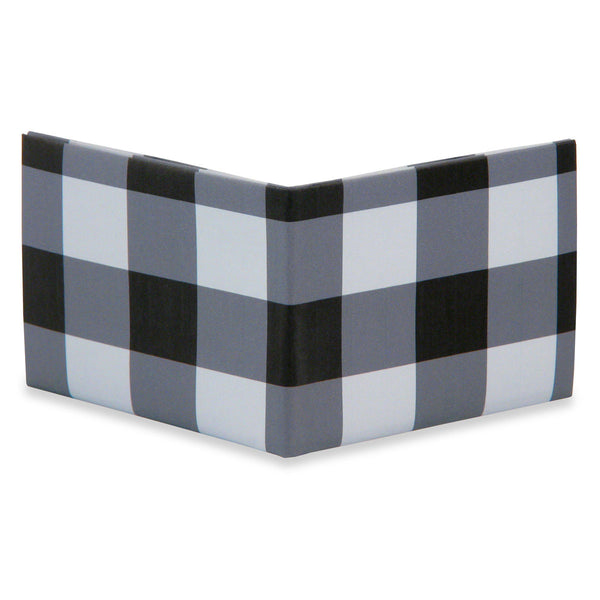 Black Plaid Mighty Wallet - BodyJewelrySource