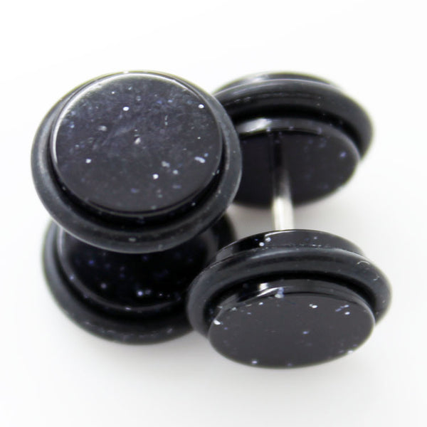 Fake Sparkle Ear Plugs