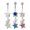 Navel ring with stars