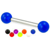 Barbell with Acrylic balls - BodyJewelrySource