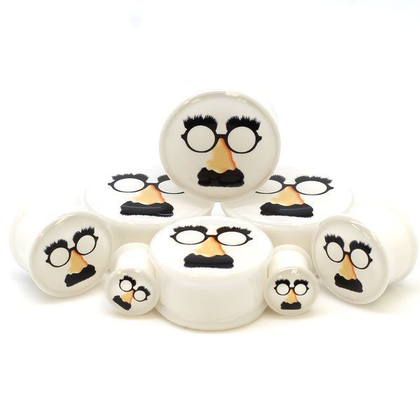 Funny Man Glasses Logo Ear Plugs