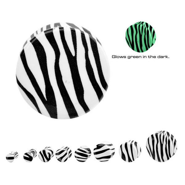 Glow In The Dark Zebra Ear Plugs