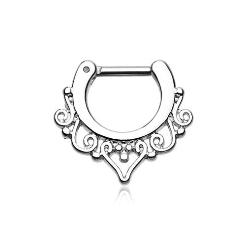 Goddess Filigree Septum Clicker Ring