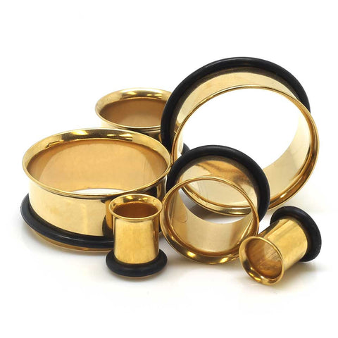 Gold Plated Single Flared Tunnels