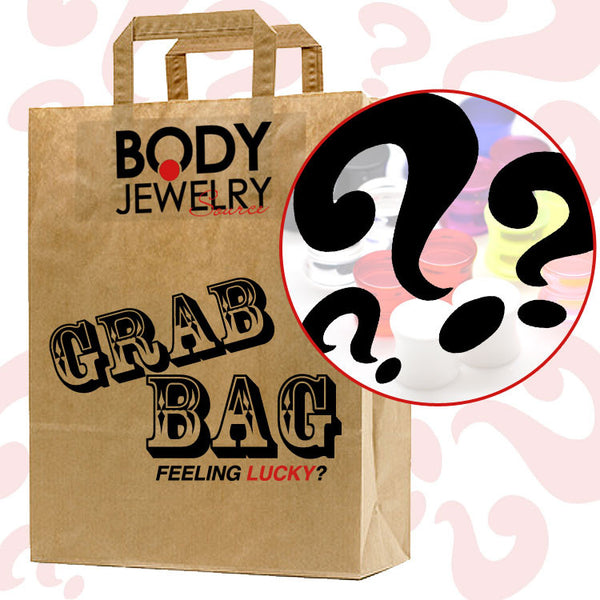 22mm and 25mm - 3 Pairs Ultimate Grab Bag - Mystery Plugs - BodyJewelrySource