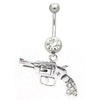 Navel ring with gun