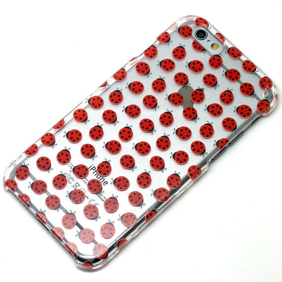 Red Lady Bug Pattern
