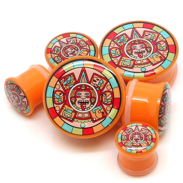Mayan Color Design Ear Plugs