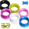Metallic Silicone Ear Tunnels