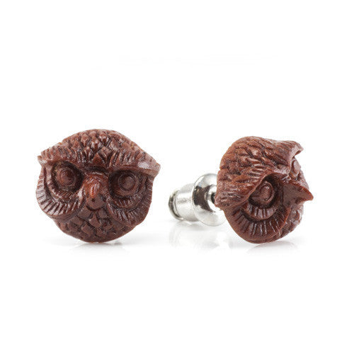 Mr Owl Studs Earrings