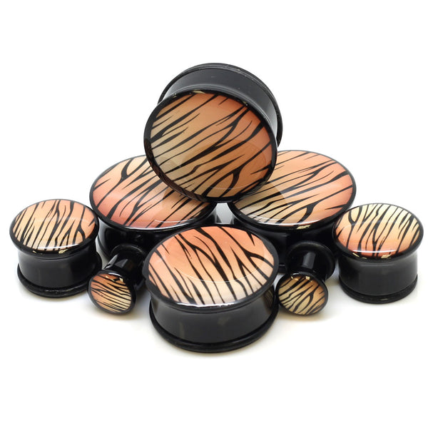 Orange Tiger Logo Plugs