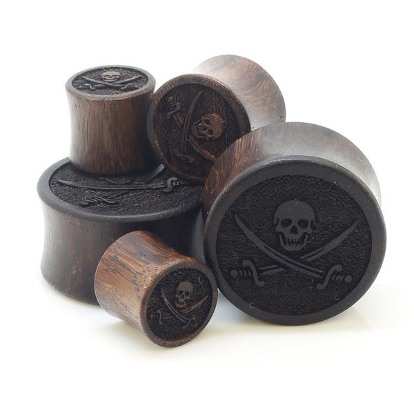 Organic Pirate Jolly Roger Ear Plugs