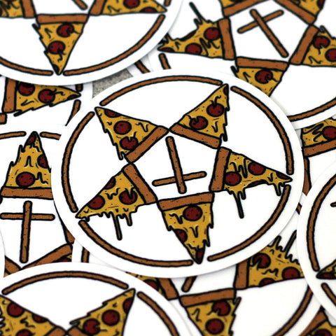 Stay Gold Pentagram Pizza Sticker