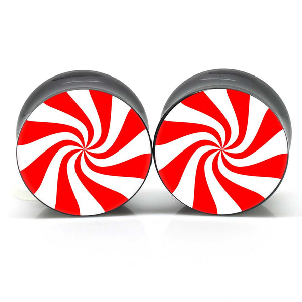 Peppermint Swirl Ear Plugs