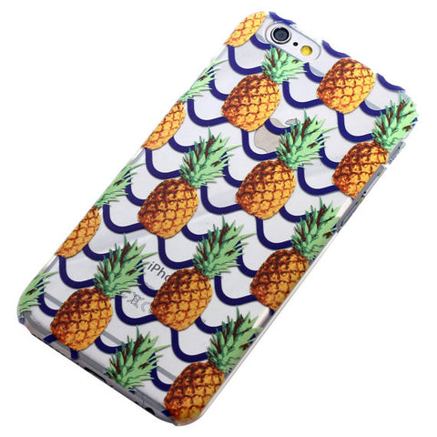 Pineapple with Blue Stripes