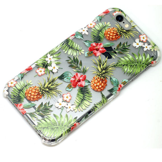 Pineapple Tropical Floral Pattern