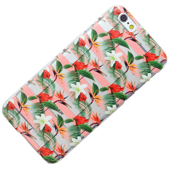 Pink Striped Birds Of Paradise Pattern