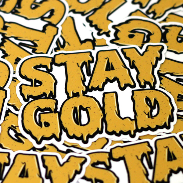 Stay Gold Cheese Logo Sticker