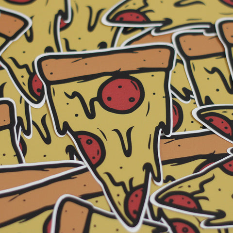 Stay Gold Pizza Slice Sticker