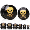 Gold Metallic Skull & Crossbones