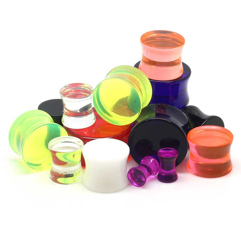 Double Flared UV Acrylic Plugs