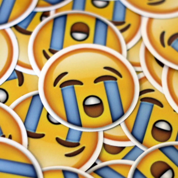Crying Happy Emoji Sticker