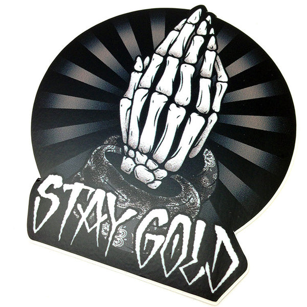 Stay Gold Pray For Death Die Cut Sticker