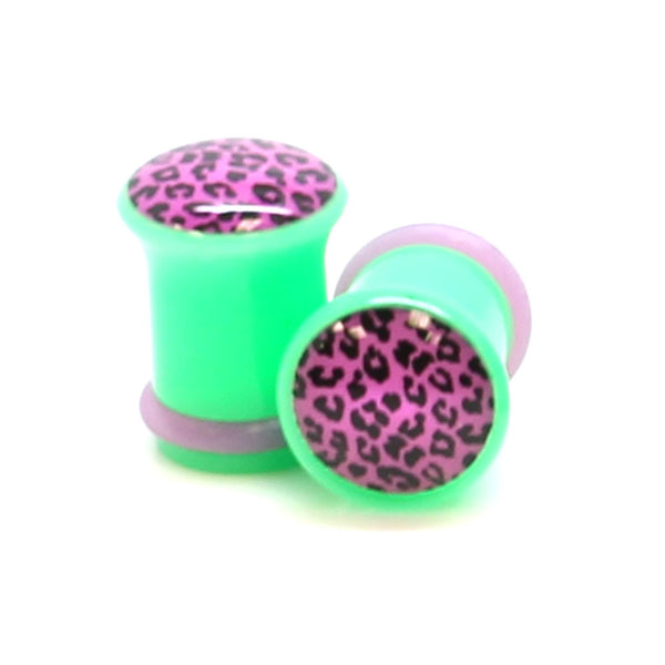 Purple Leopard Print Logo Ear Plugs