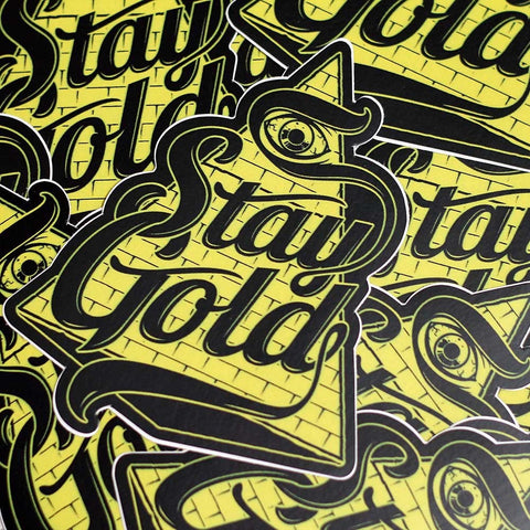 Stay Gold Pyramid Sticker