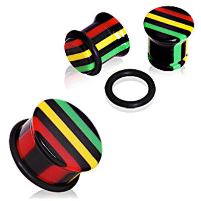 Rasta Single Flare Ear Plugs