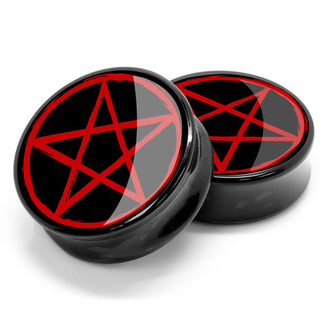 Stay Gold Red Pentagram Ear Plugs