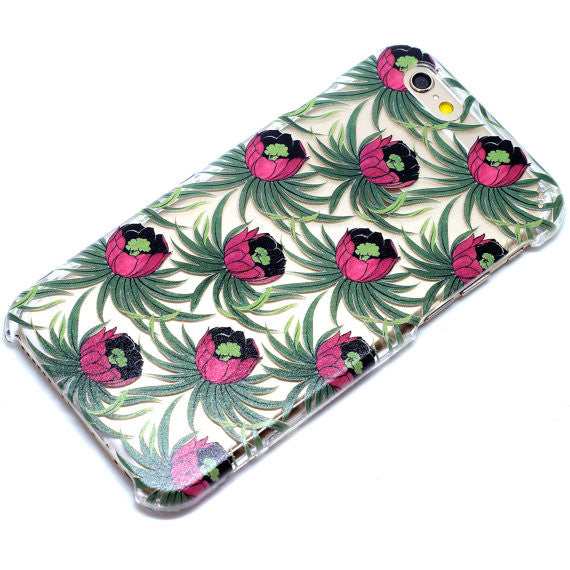 Ruby Lotus Floral Pattern