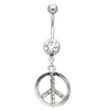 Navel ring with Peace Sign