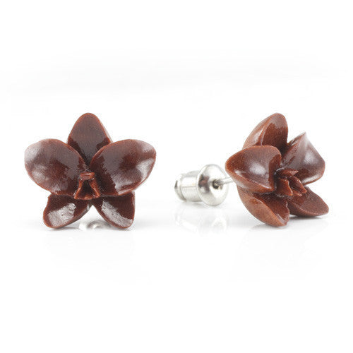Sabo Orchid Studs Earrings