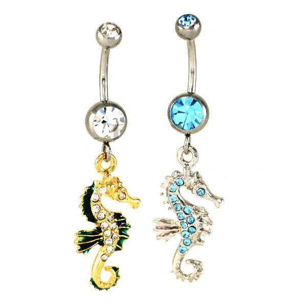 Sale -  Seahorse Navel Ring