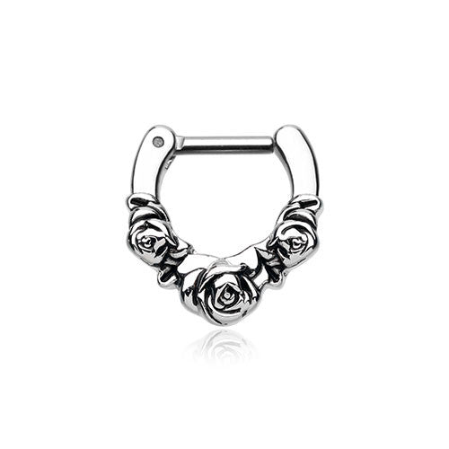 Septum Clicker With Roses