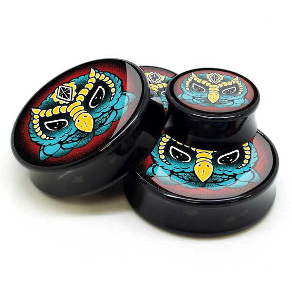Stay Gold Teal Owl Ear Plugs